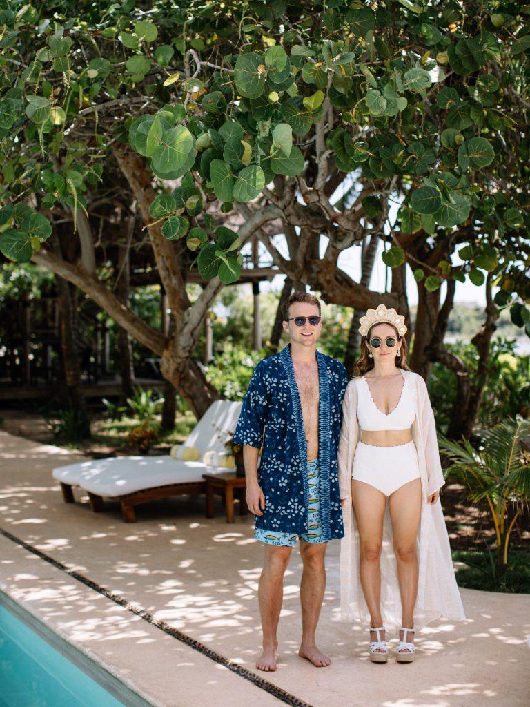 Honeymoon by the pool