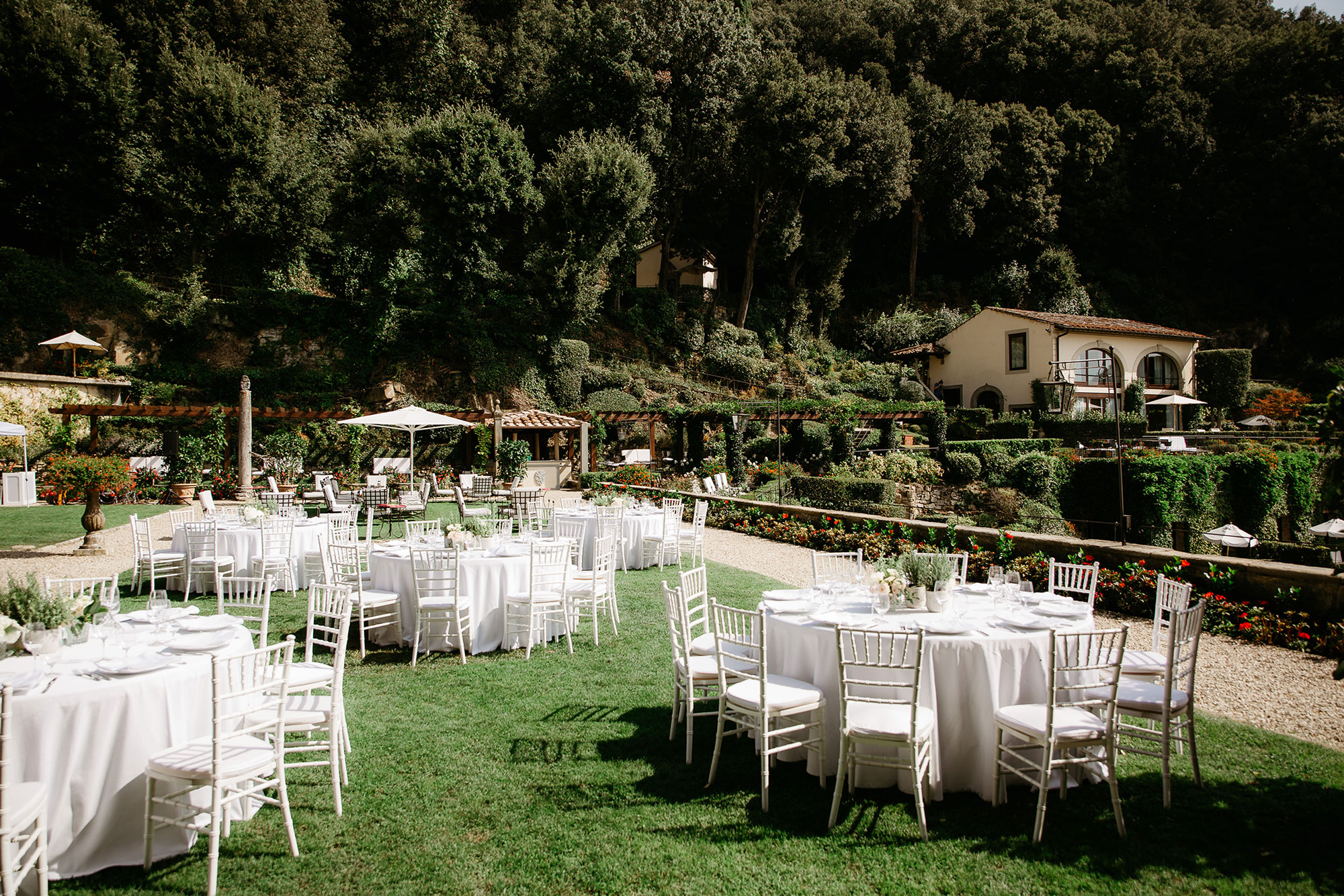 Mediterranean wedding reception.