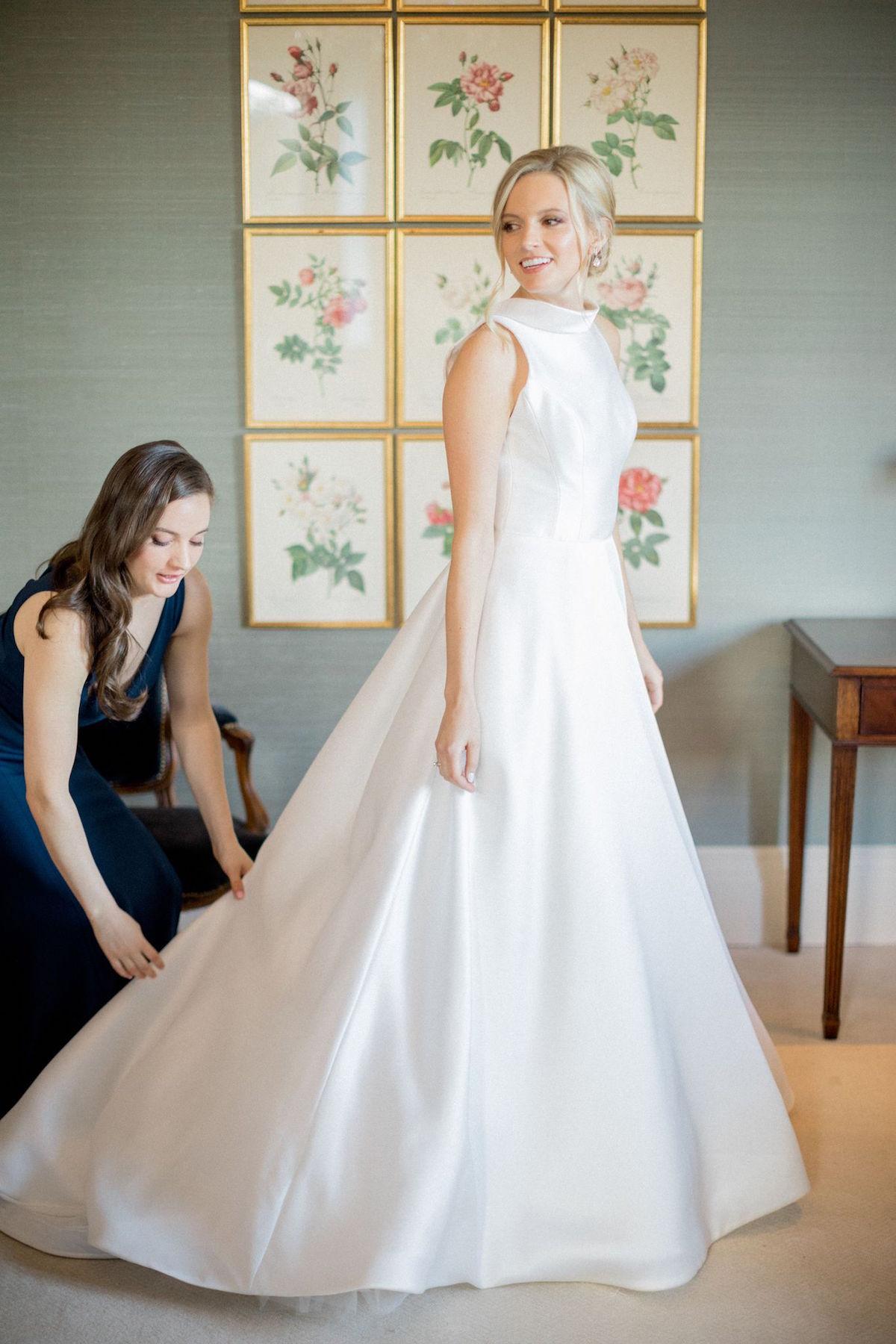 Suzanne Neville Swanson wedding dress