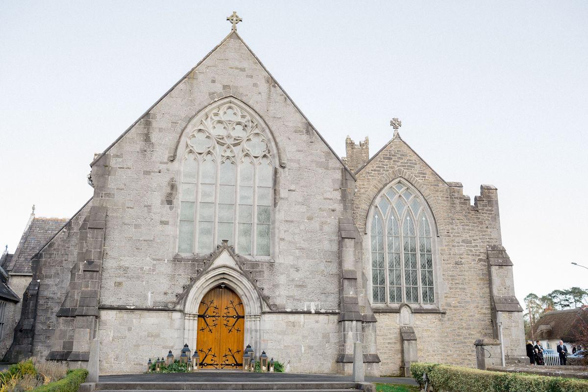 Traditional Irish church wedding