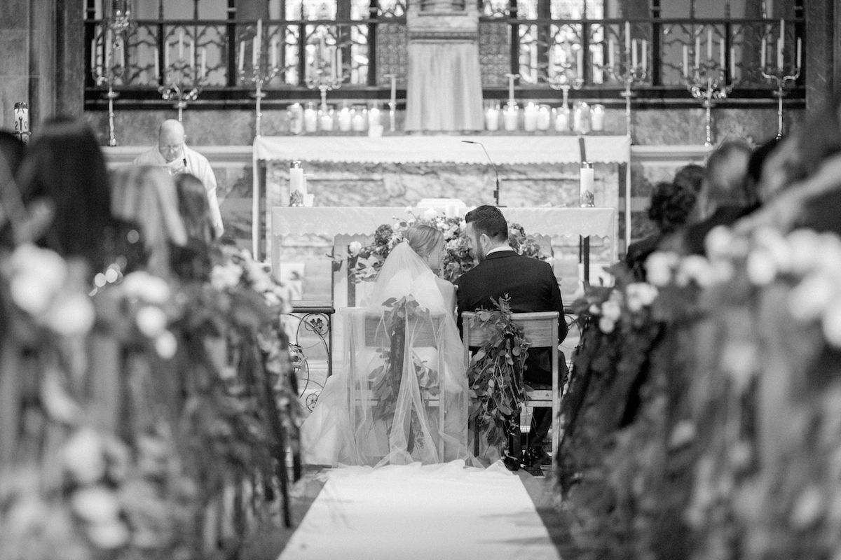 Irish destination wedding church ceremony