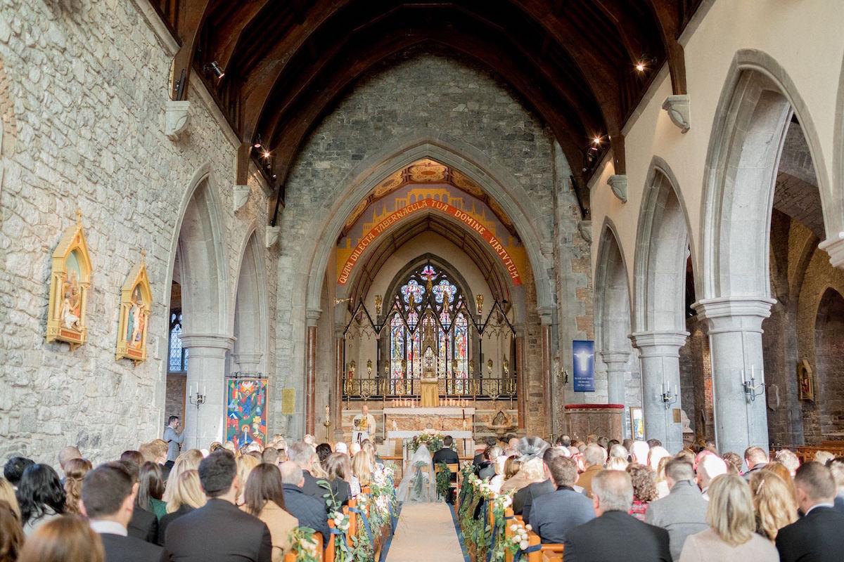 Traditional church wedding ceremony in Ireland