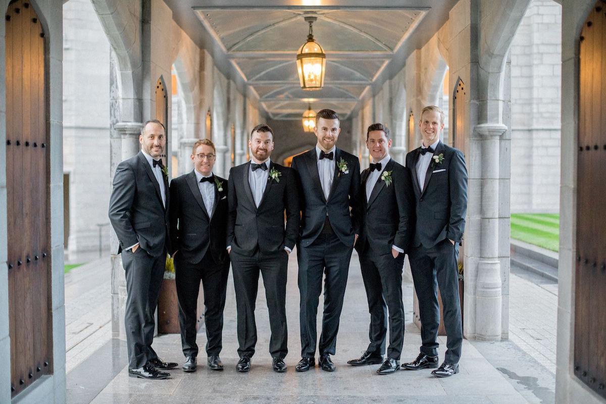 Adare Manor wedding groomsmen