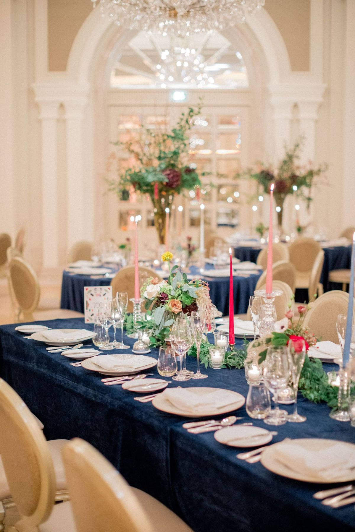 Adare Manor wedding reception table décor