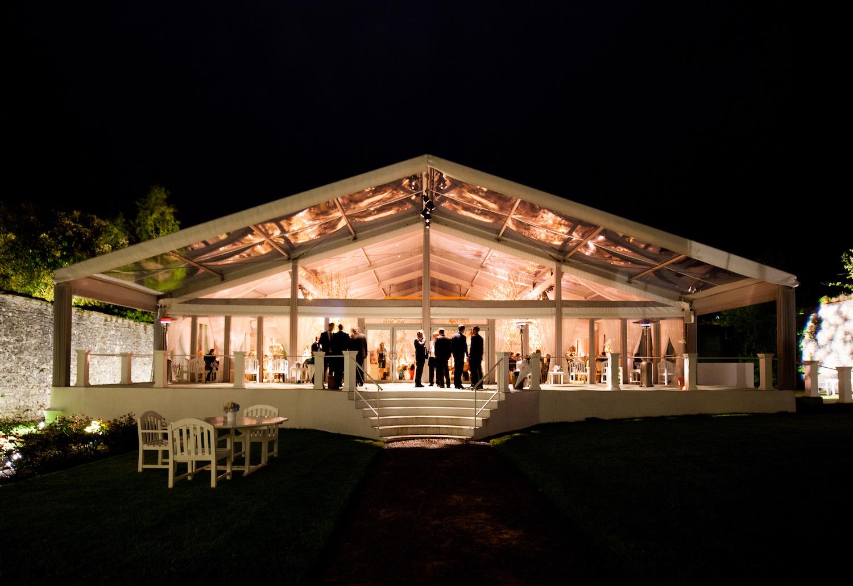 Adare Manor Wedding Venue Walled Garden Tent Reception