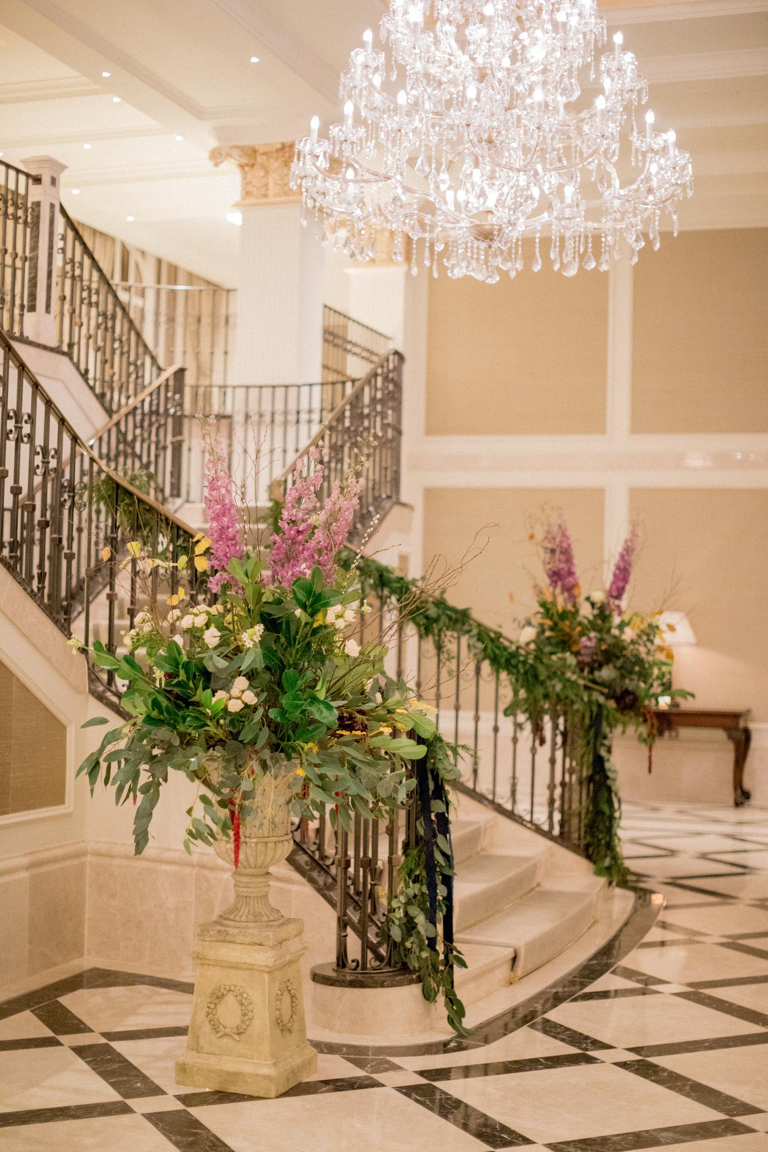 Adare Manor Wedding Venue Grand Ballroom Staircase