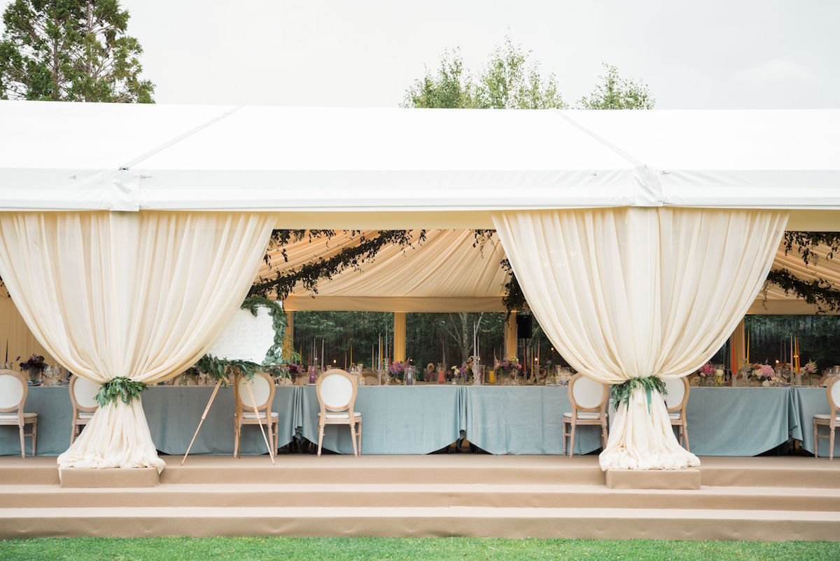 tented reception at home