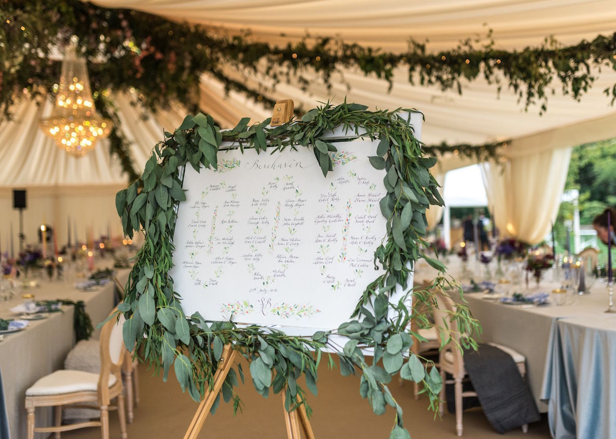 greenery table plan