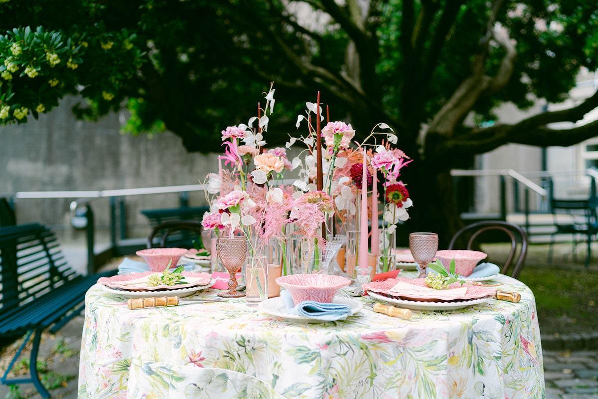 garden wedding reception sweetheart table