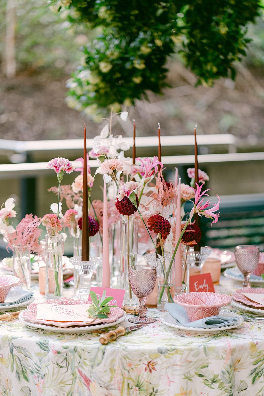Dublin elopement MoLI reception table