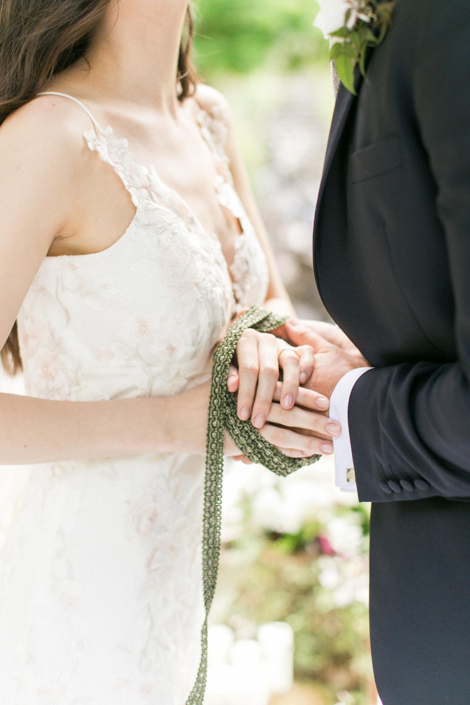 st. patrick's day wedding ideas handfasting ceremony