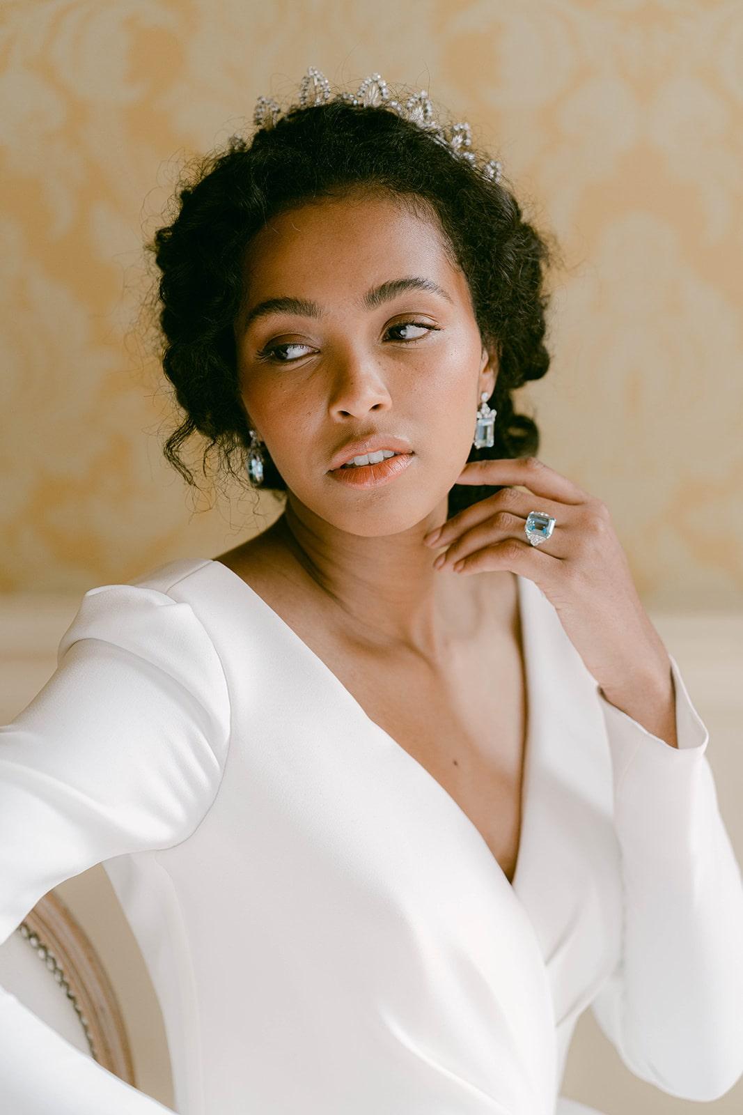 Keira Knightley inspired bridal look