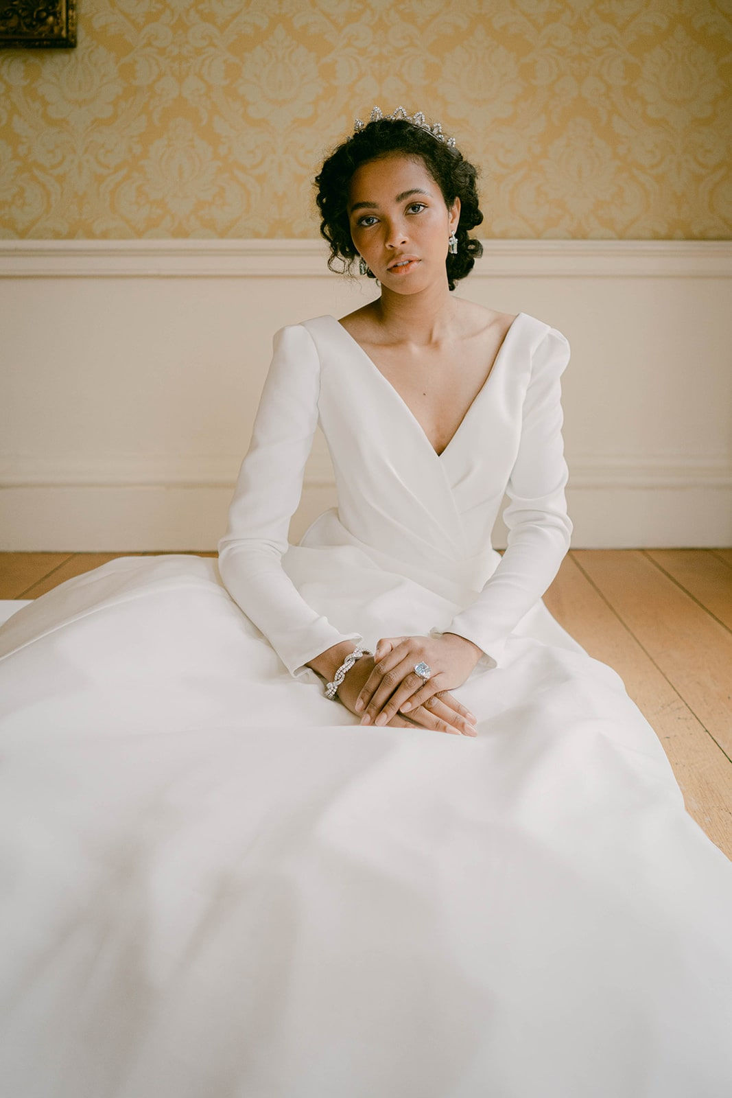 Suzanne Neville wedding dress with long sleeves