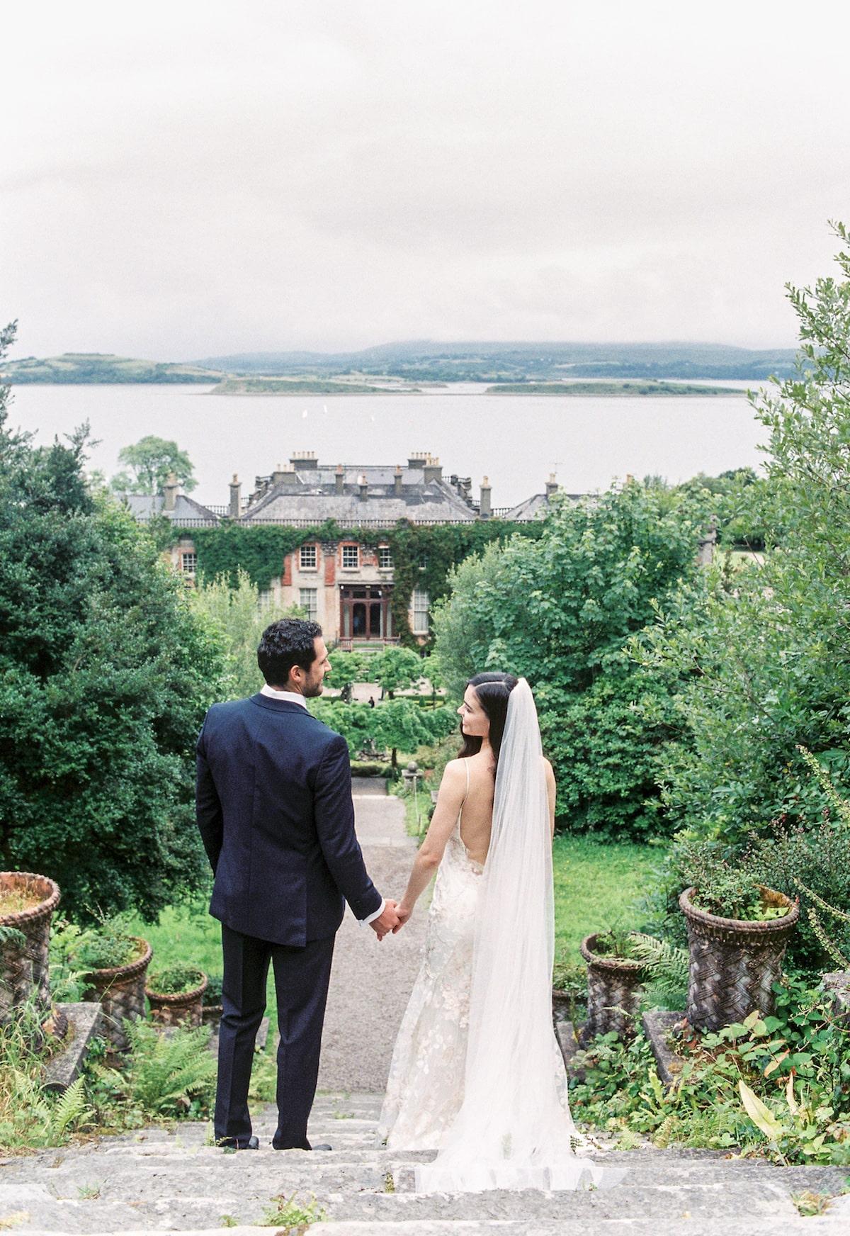 small wedding in Ireland Bantry House