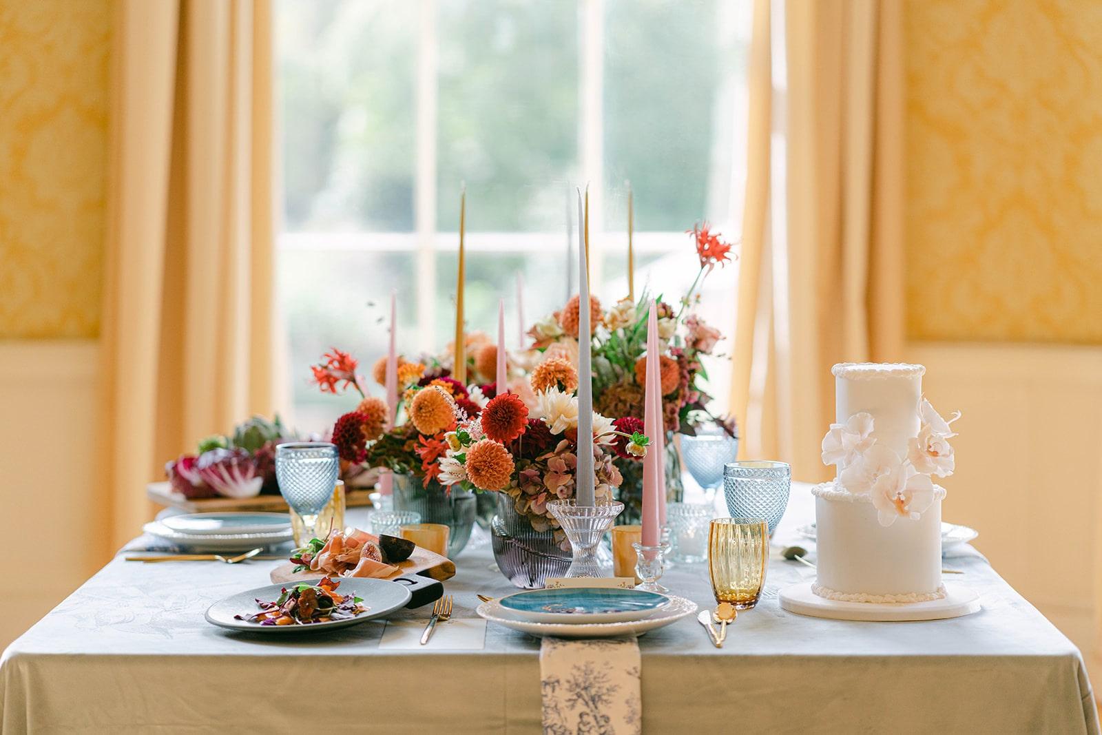 Museum of Literature Ireland wedding table décor
