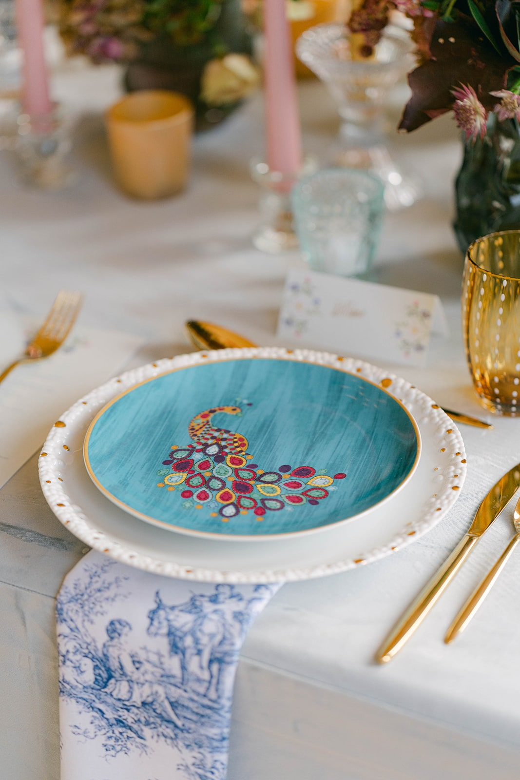 eclectic plates for table setting