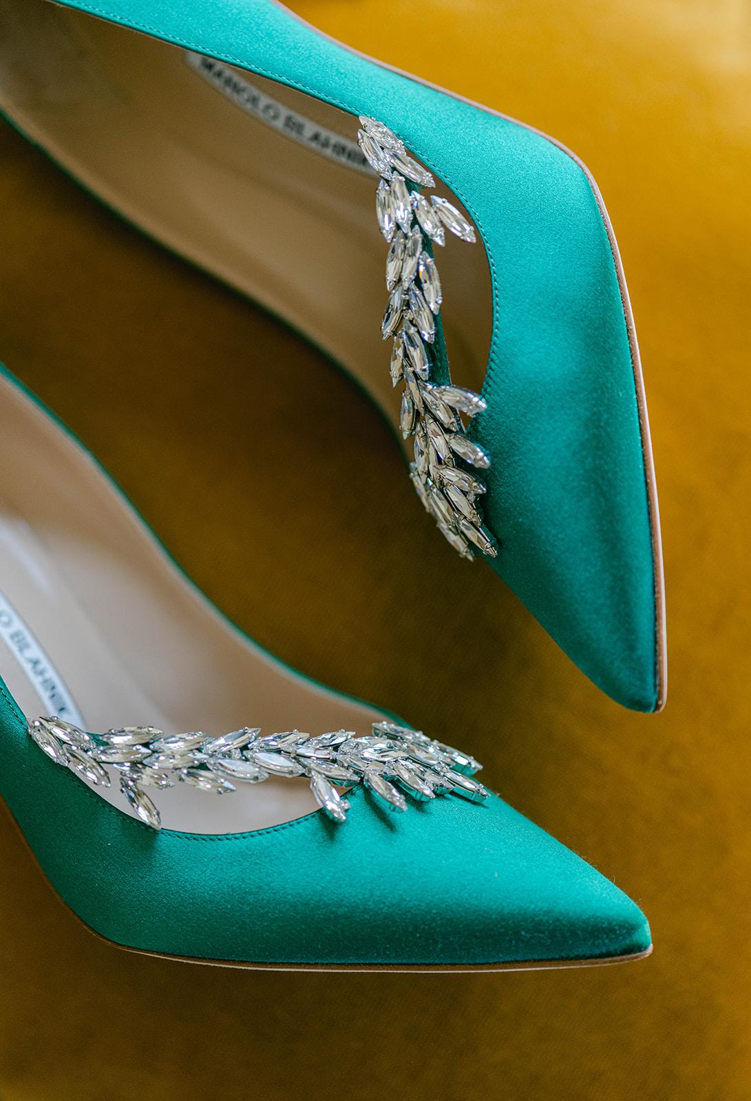 St Patricks Day Wedding Green Shoes