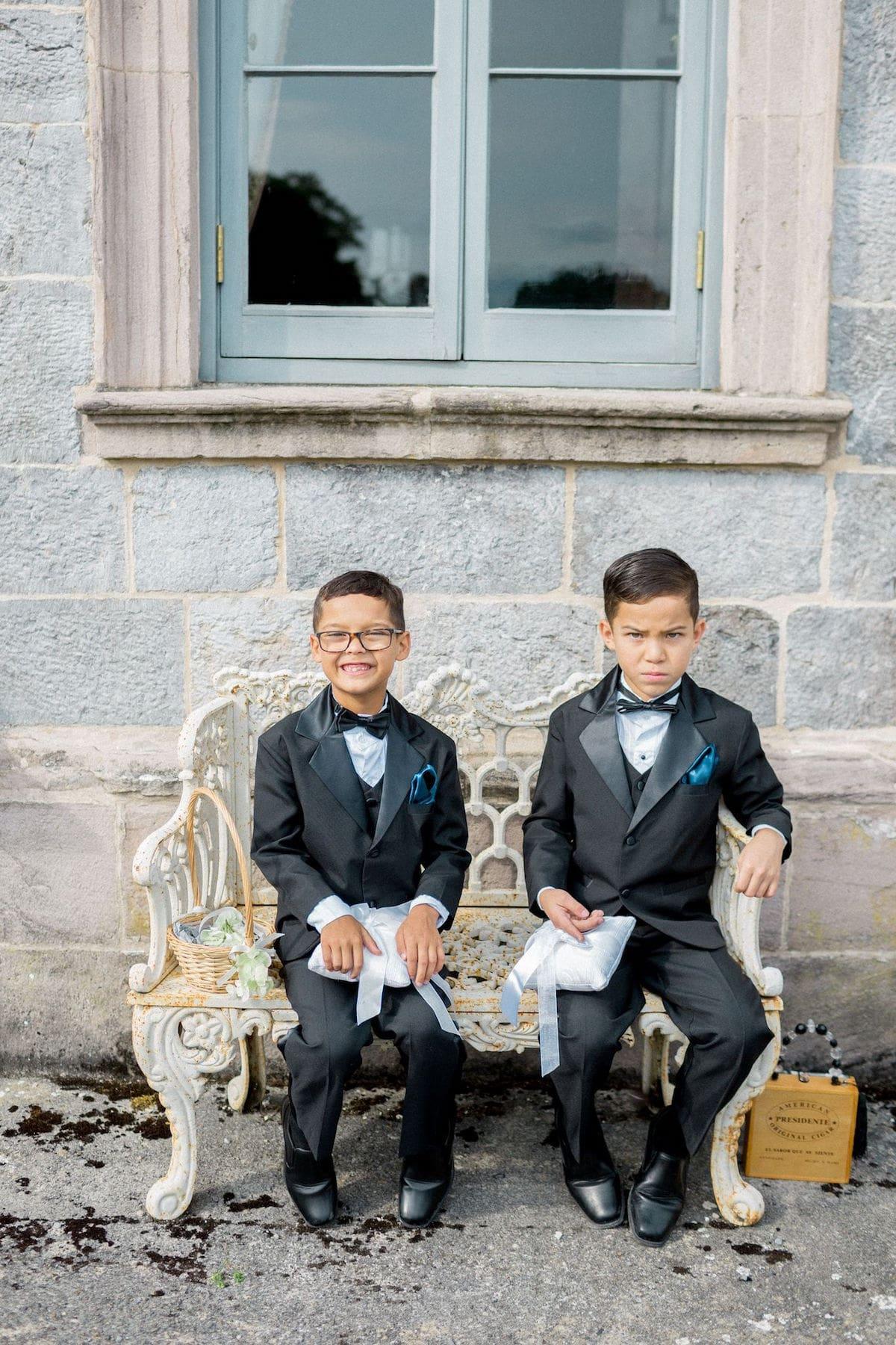 Irish destination wedding ring bearers