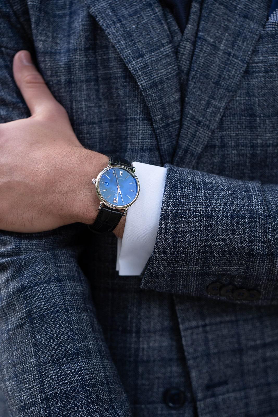 modern tweed for groom