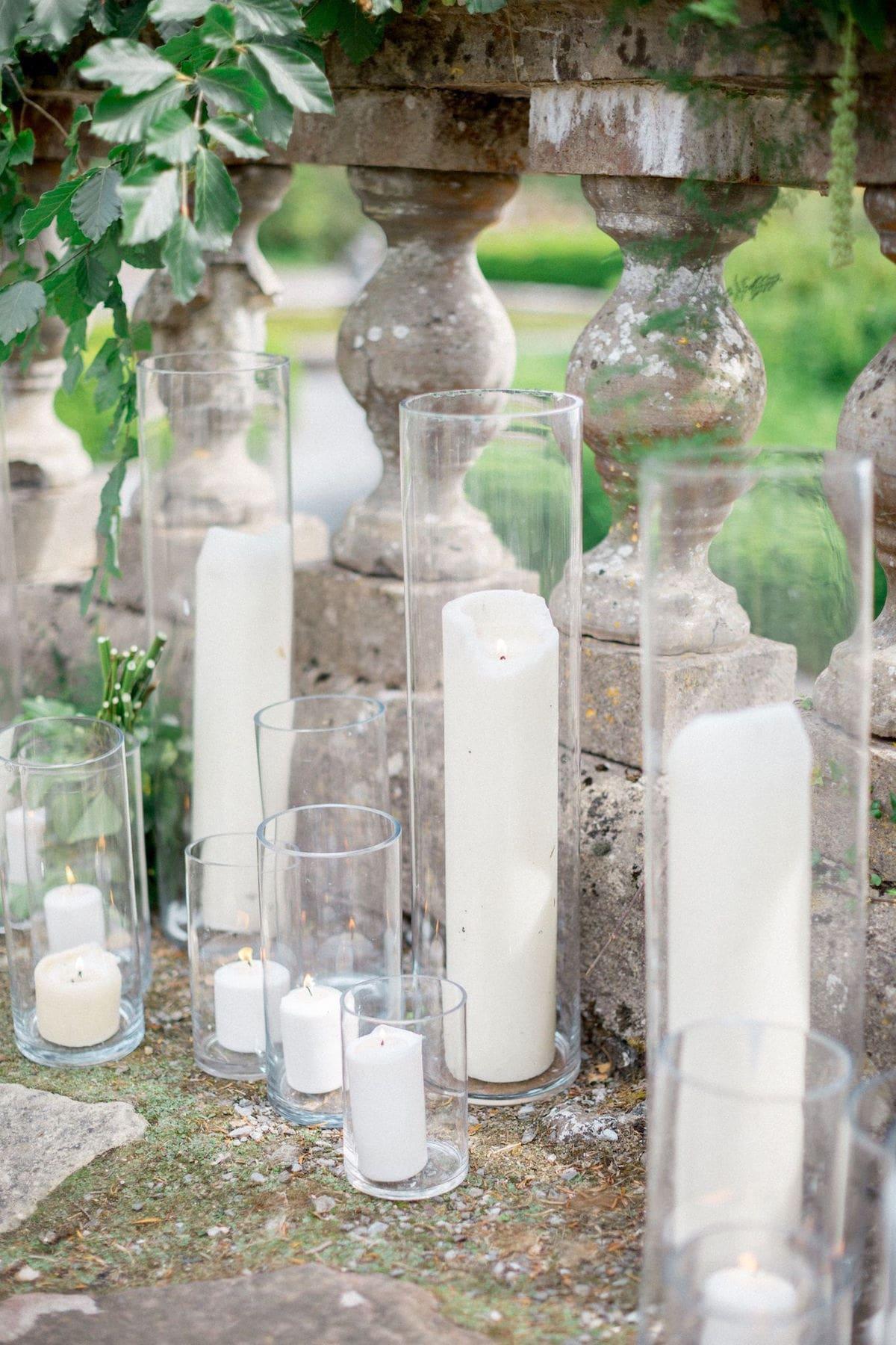 Gloster House garden wedding ceremony décor
