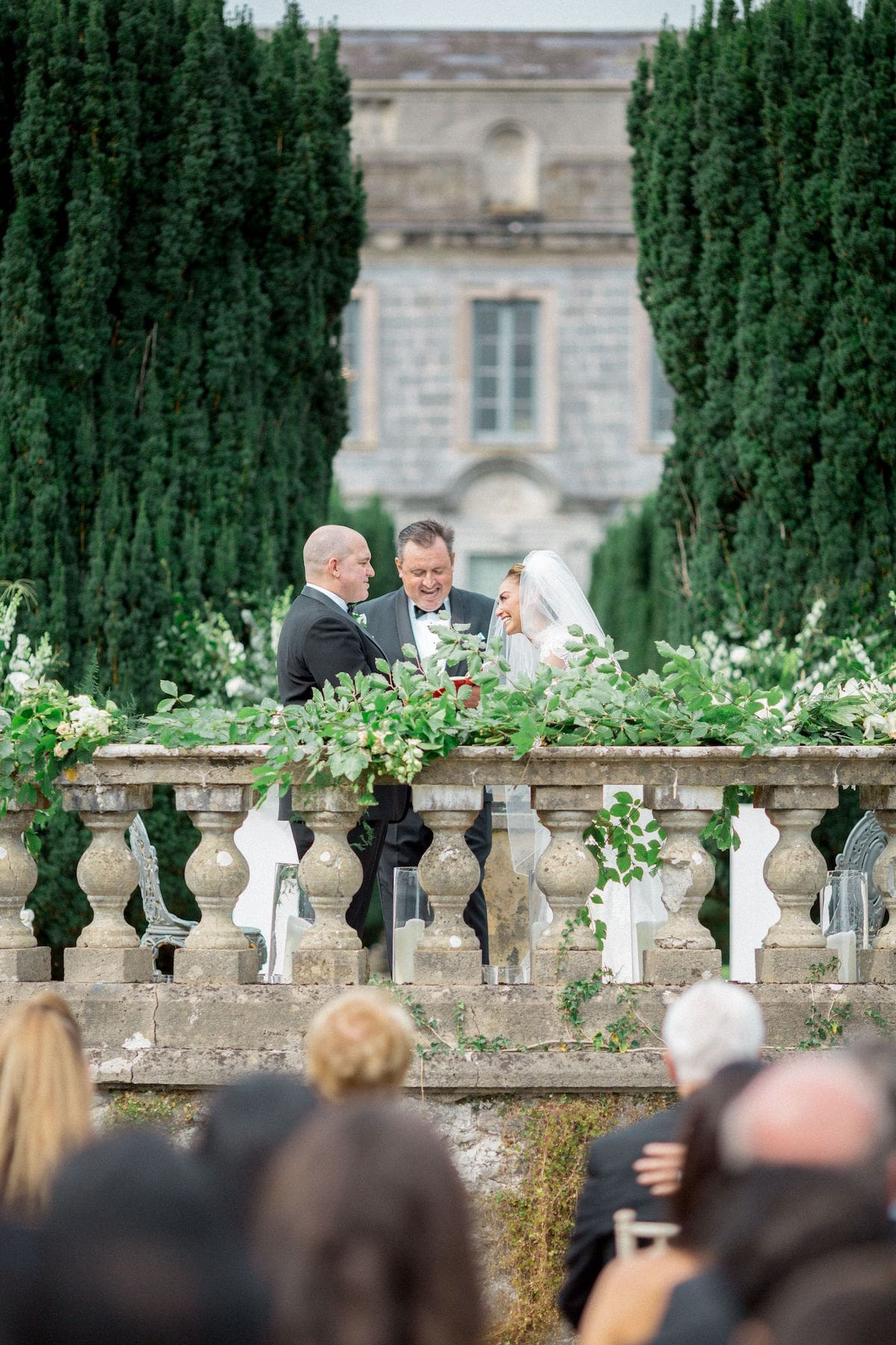 Gloster House terrace ceremony vows
