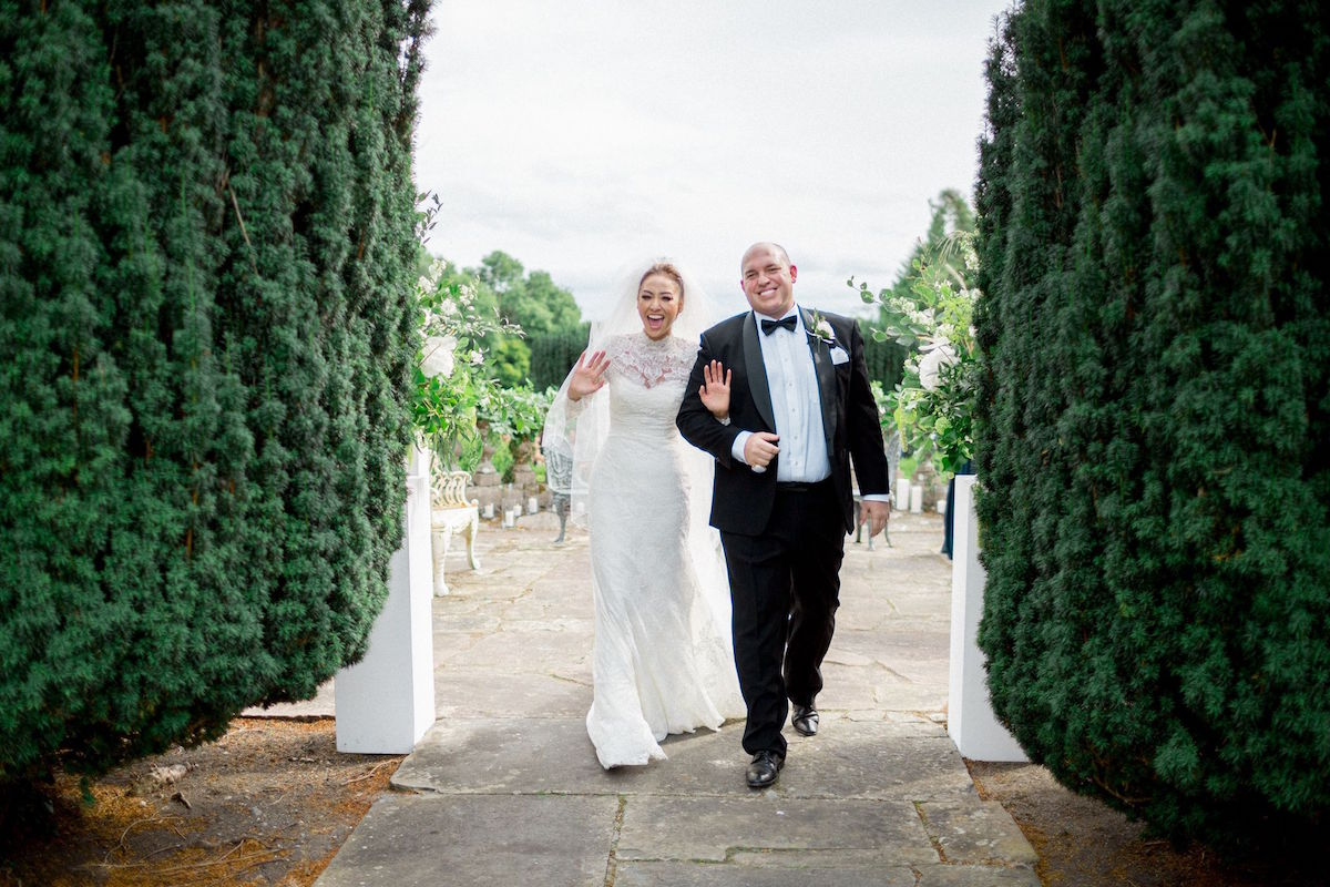 Gloster House wedding just married