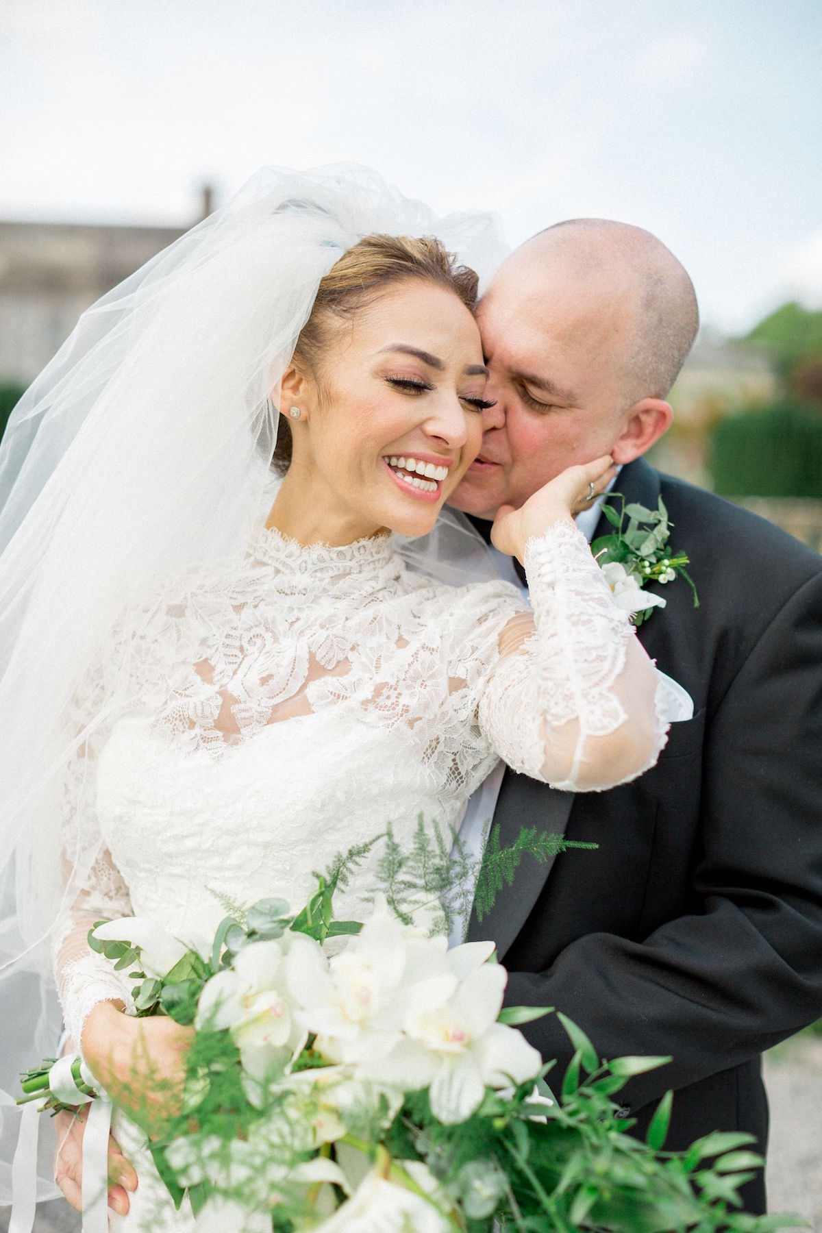 bride and groom Gloster House wedding