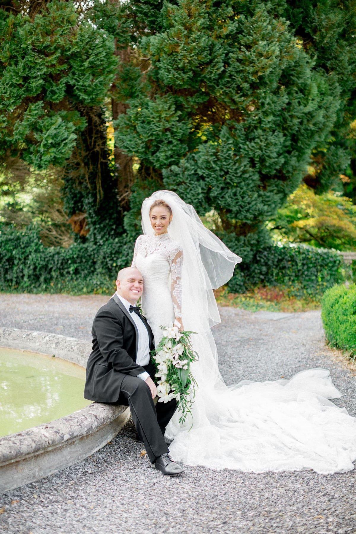 Irish destination wedding bride and groom