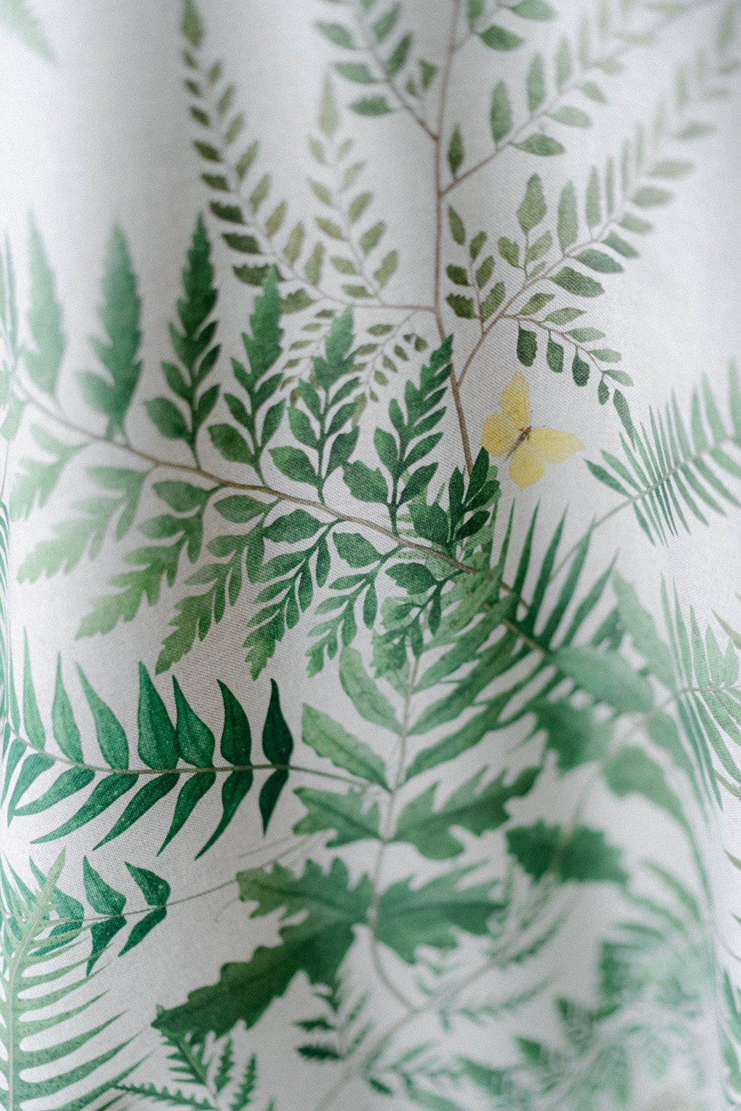 fern and butterfly table cloth print