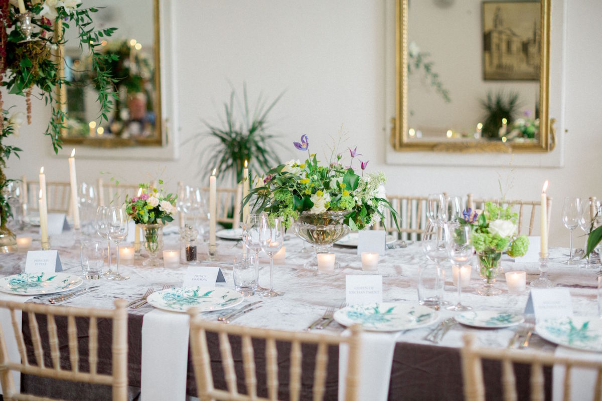 Gloster House wedding reception tables