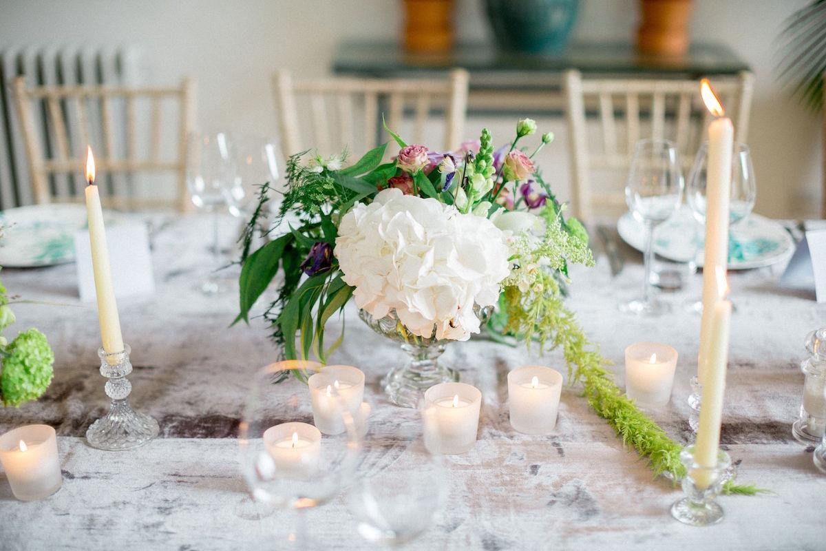 Gloster House wedding centrepiece