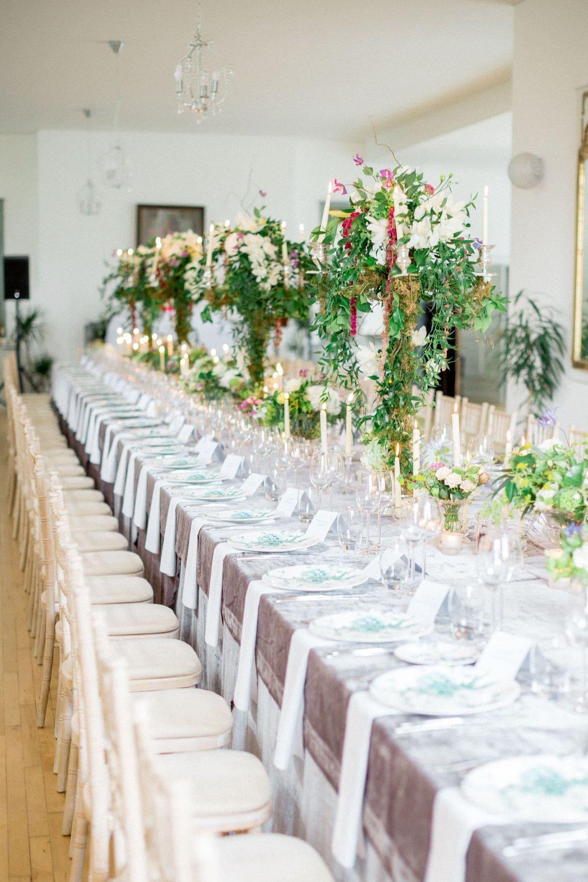 Gloster House velvet linens