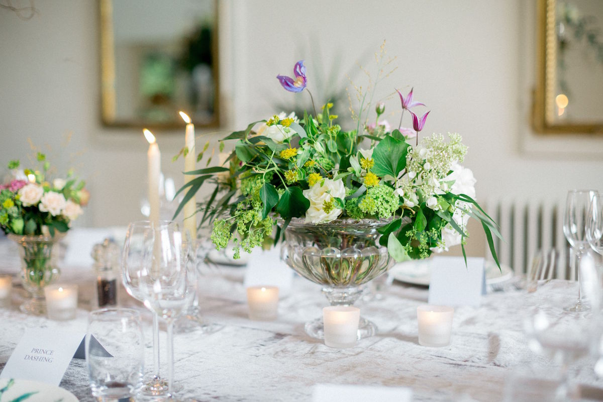 Irish destination wedding tables