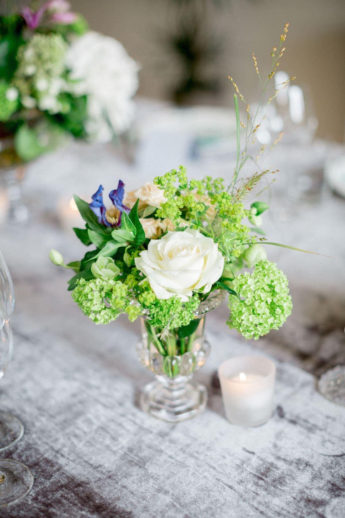 small low table floral arrangement