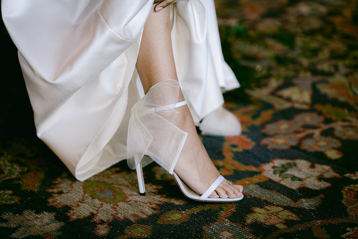Jimmy Choo bridal shoes with bow