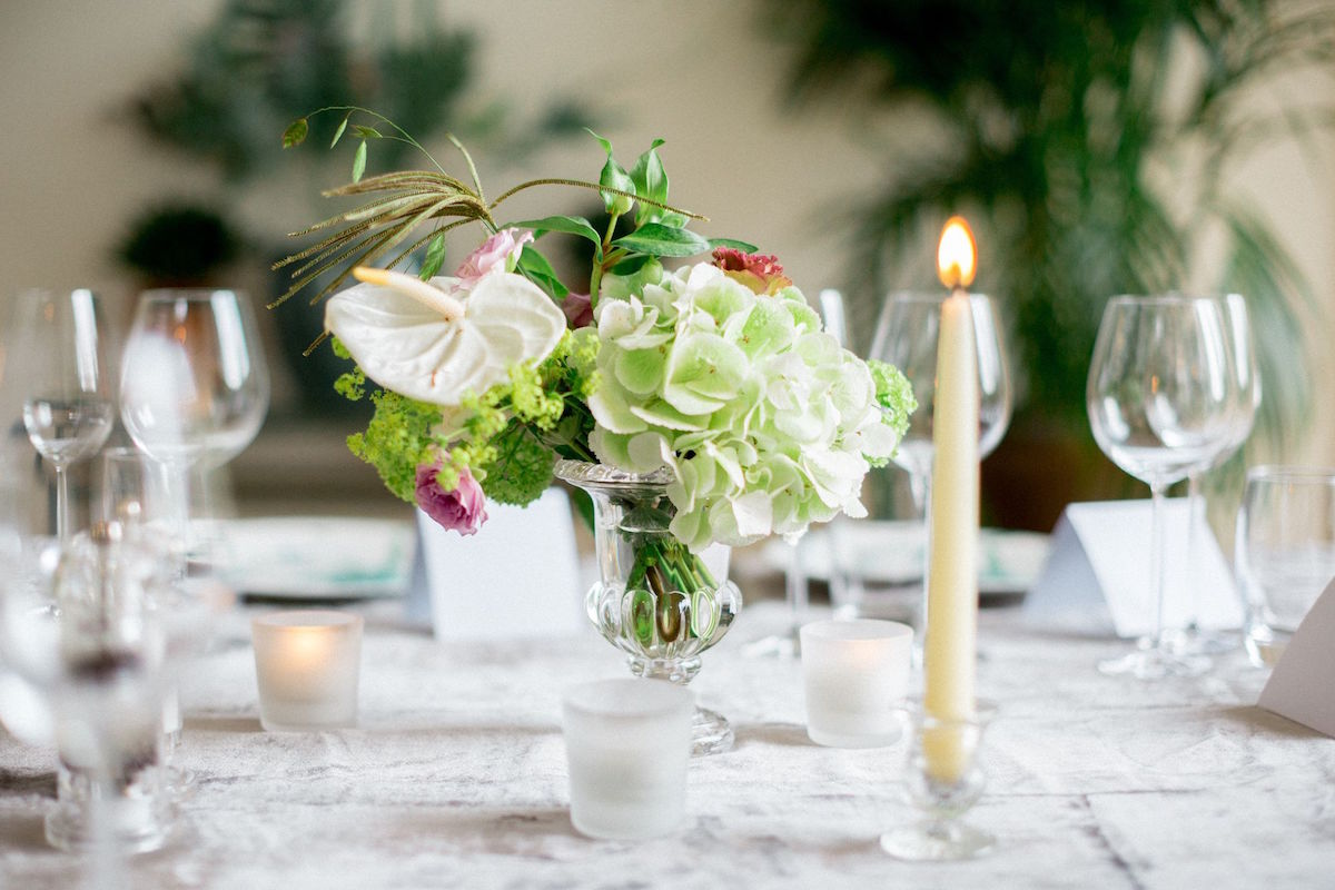 Irish destination wedding table décor