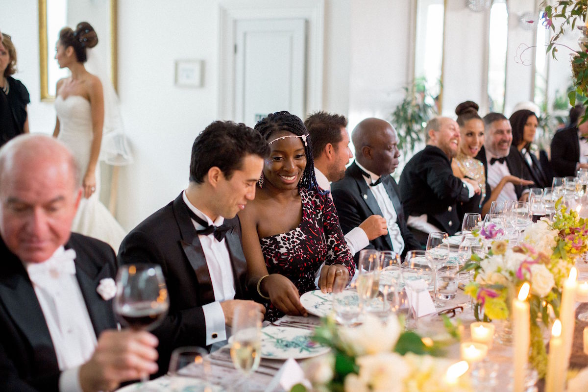 Gloster House wedding dinner