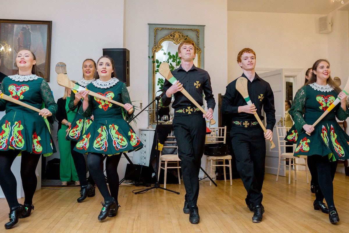 Irish traditional dancers at Gloster House wedding