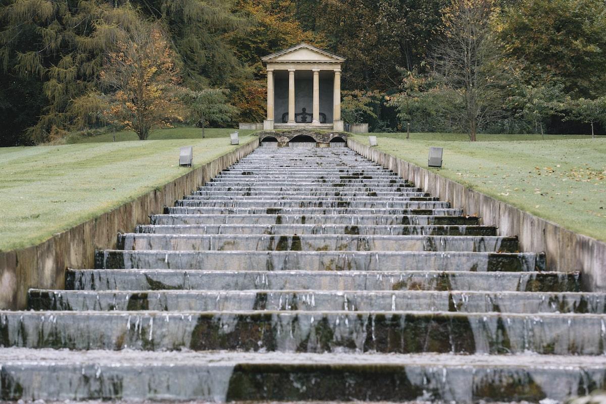 Ballyfin water cascade