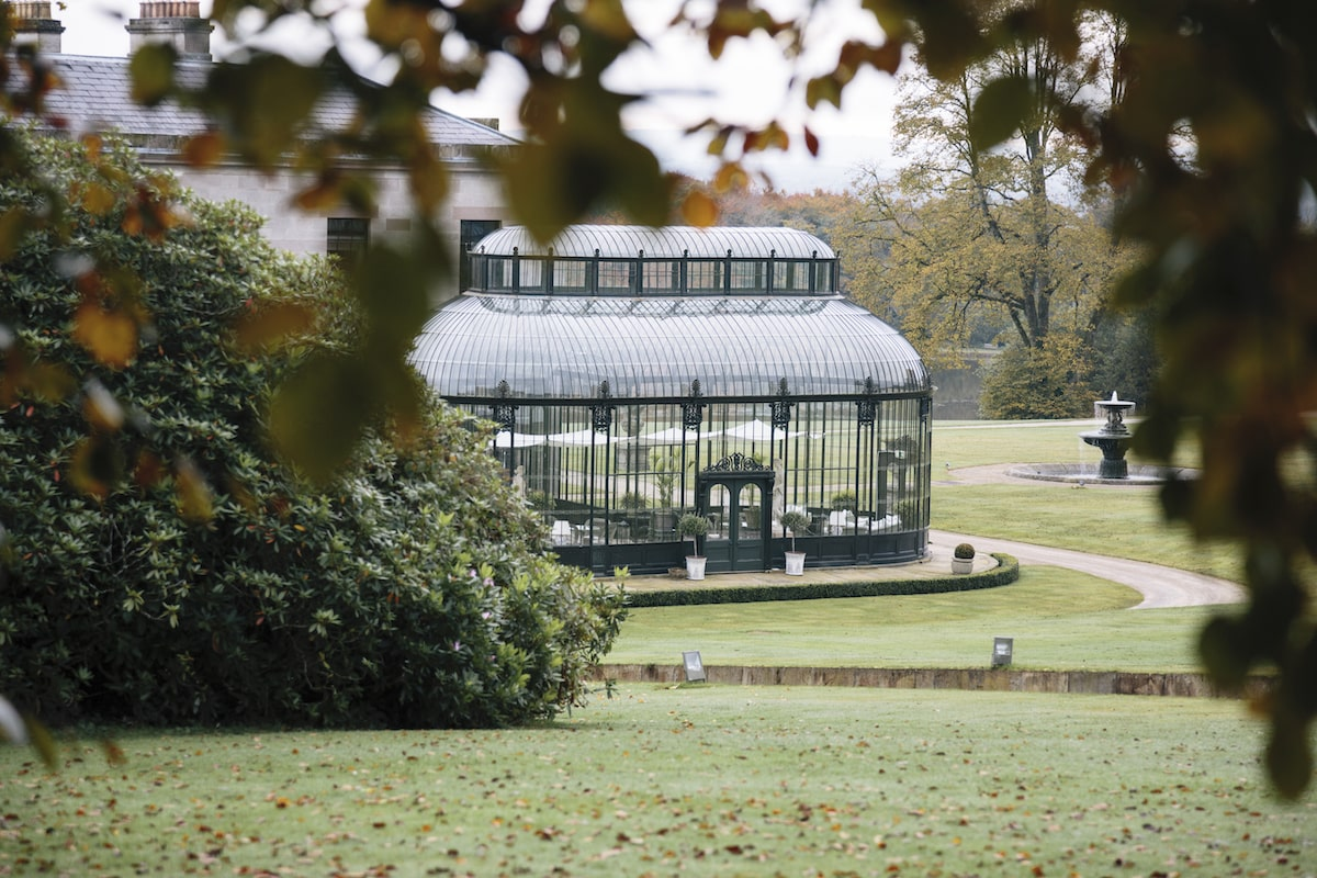 Ballyfin wedding venue conservatory