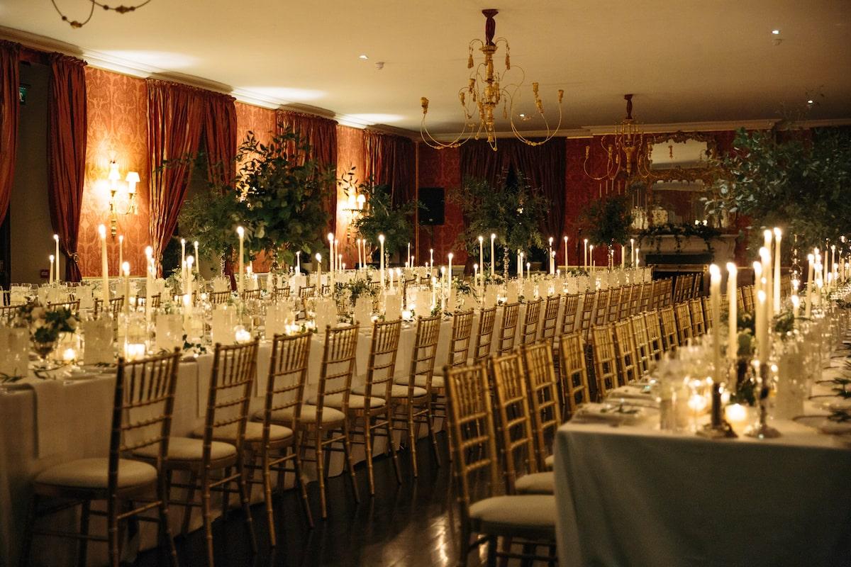 Ballyfin wedding venue ballroom