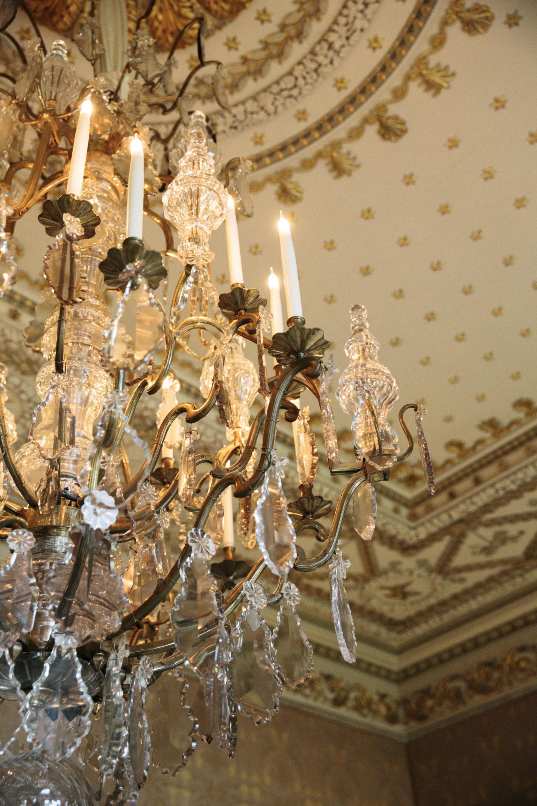 Ballyfin gold drawing room ceiling