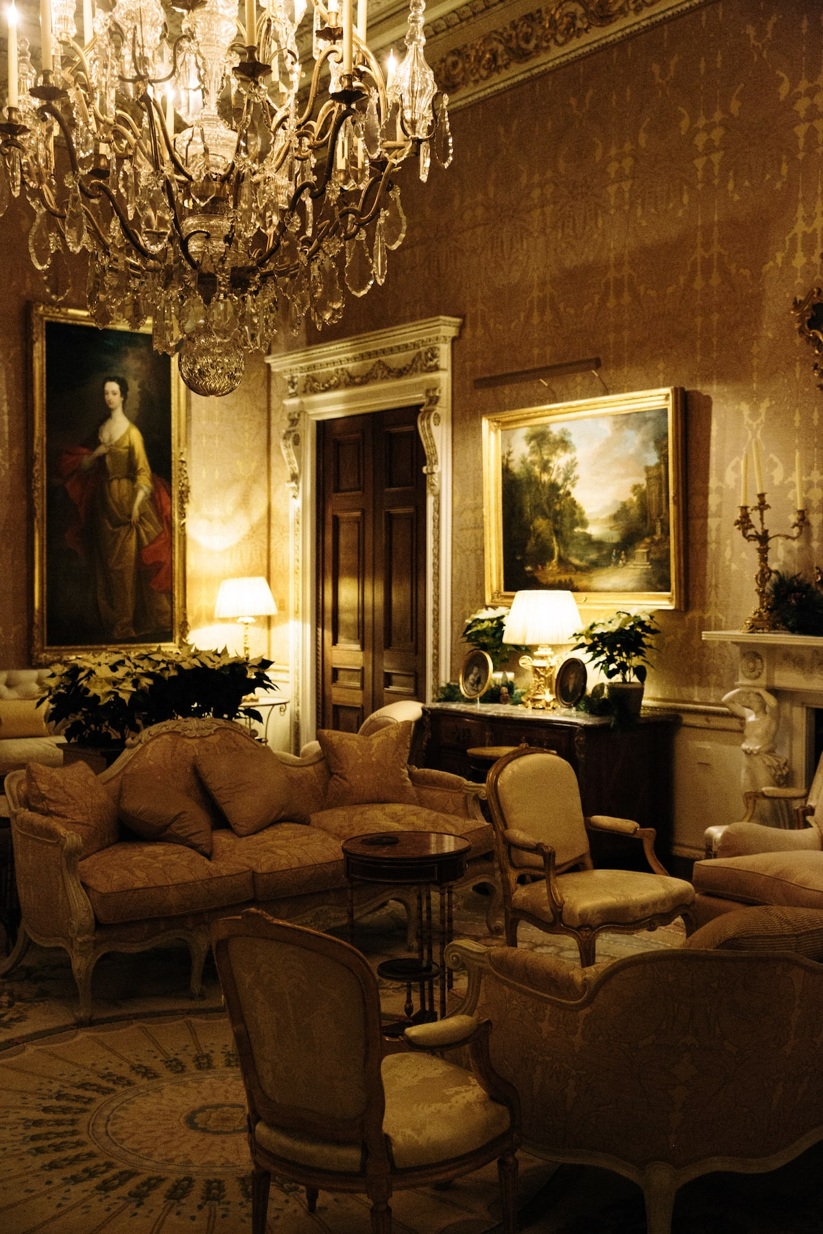 Ballyfin gold drawing room