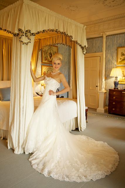 Ballyfin bride getting ready in lady caroline suite