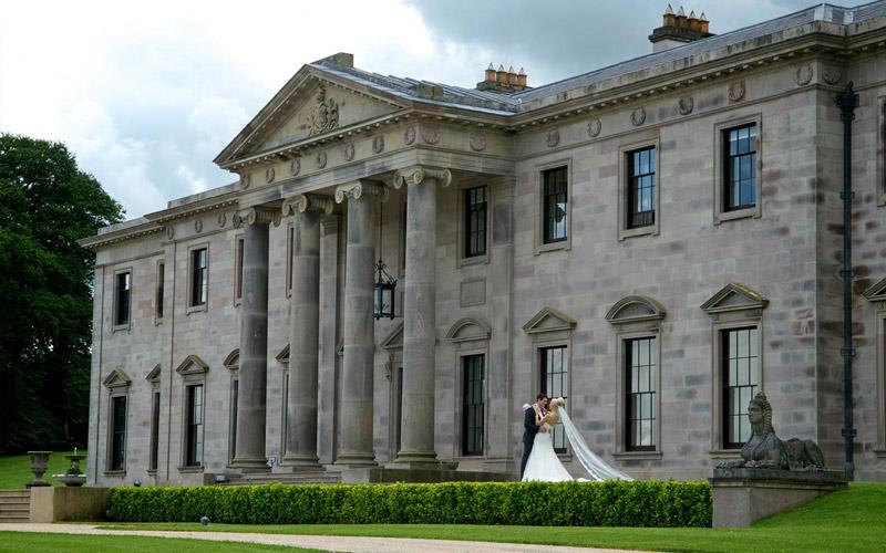Ballyfin wedding venue exterior
