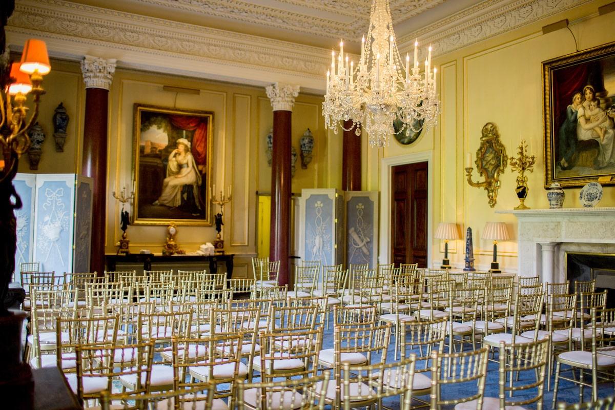Ballyfin wedding venue state dining room