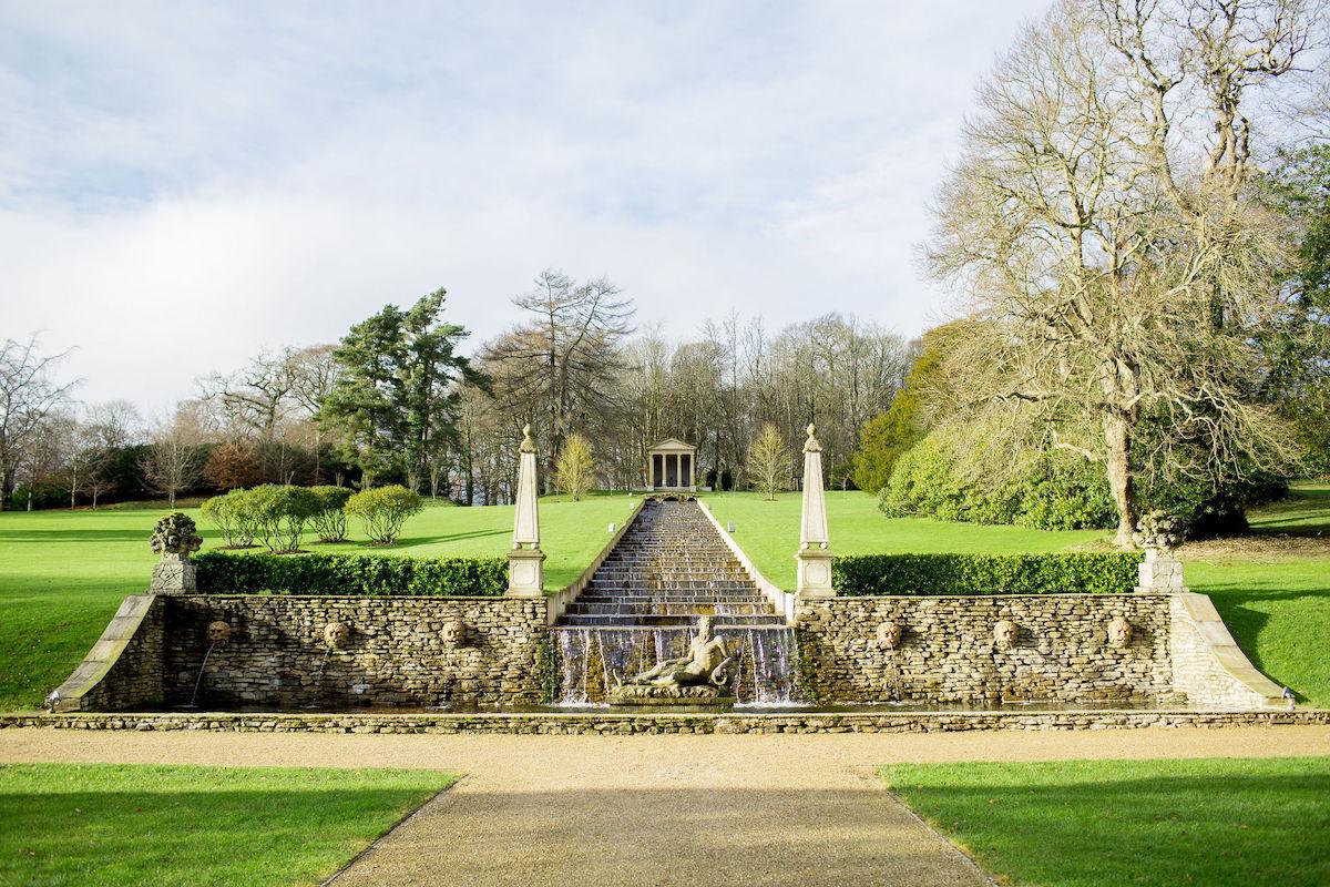 Ballyfin wedding venue gardens