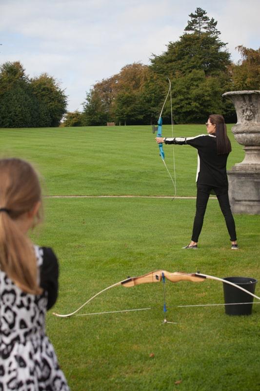 Ballyfin wedding weekend activities archery