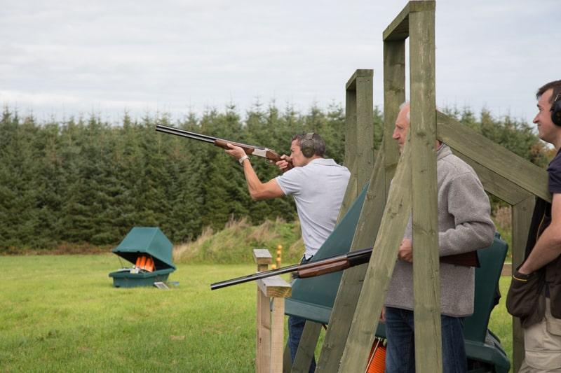 Ballyfin activities clay pigeon shooting